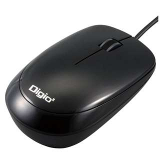 MUS-UKT114BK マウス Digio2 ブラック  [光学式 /3ボタン /USB /有線]