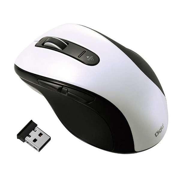 MUS-RKF107W マウス Digio2 ホワイト  [BlueLED /5ボタン /USB /無線(ワイヤレス)]