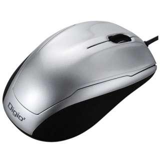 MUS-UKT115SL マウス Digio2 ベーシック シルバー  [BlueLED /3ボタン /USB /有線]
