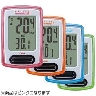 サイクルコンピュータ ベロワイヤレス プラス(ピンク) CC-VT235W【数量限定カラー】