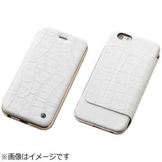 b4966a3e4c iPhone 6s Plus/6 Plus用 手帳型レザーケース Hybrid Case UNIO Leather クロコ
