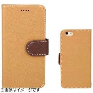 iPhone 6s/6用 手帳型 booc ダイアリーケース ライトブラウン×ブラウン