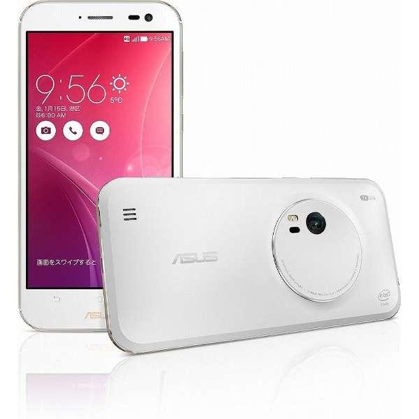 ZenFone Zoom スタンダード ホワイト「ZX551ML-WH32S4PL」 5.5型・メモリ/ストレージ:4GB/32GB microSIMx1 ドコモ/Ymobile SIM対応 SIMフリースマートフォン