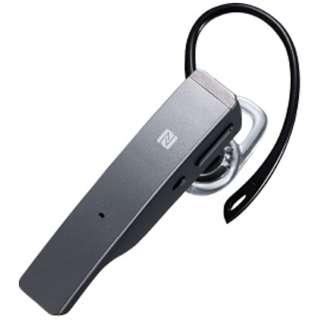 スマートフォン対応[Bluetooth4.1] 片耳ヘッドセット USB充電ケーブル付 (シルバー) BSHSBE34SV