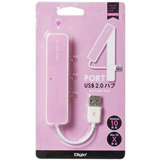 UH-2374 USBハブ  ピンク [USB2.0対応 / 4ポート / バスパワー]