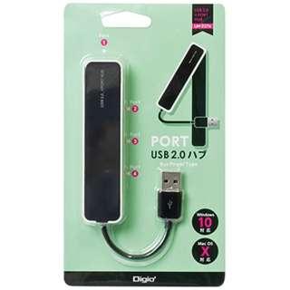 UH-2374 USBハブ  ブラック [USB2.0対応 / 4ポート / バスパワー]