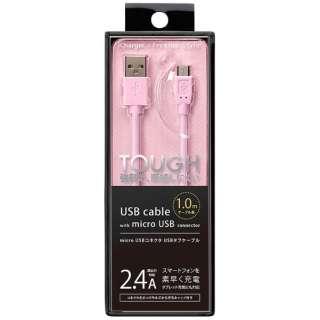 [micro USB]充電USBケーブル 2.4A (1.0m・ピンク)PG-MC10M03PK [1.0m]
