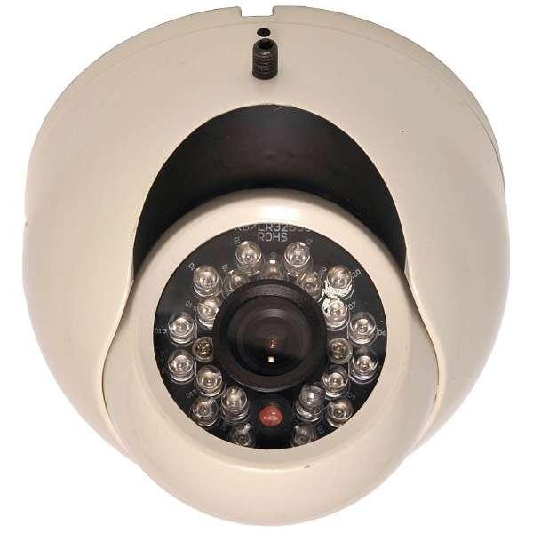アナログ対応カラードーム型監視カメラ【赤外線投光器内蔵】 SEC-G852