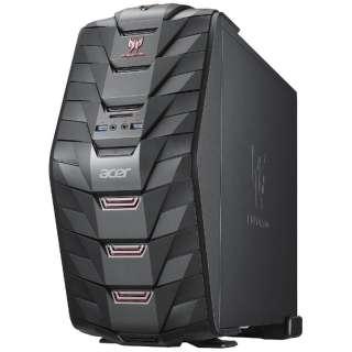 AG3710-H76F/G ゲーミングデスクトップパソコン Predator G3 ブラック [モニター無し /HDD:1TB /メモリ:16GB /2016年2月]