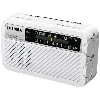 TY-JKR5W 携帯ラジオ ホワイト [防水ラジオ /AM/FM /ワイドFM対応]