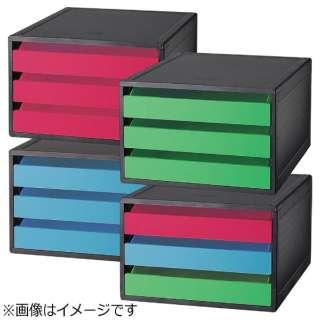 [ケース] AQUA DROPs レターケース (色:黄緑、サイズ:A4) A-5080-6