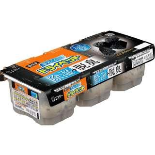 備長炭ドライペット 3個パック 420ml×3〔除湿剤・乾燥剤〕