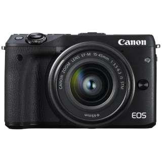 EOS M3 ミラーレス一眼カメラ EF-M15-45 IS STM レンズキット ブラック [ズームレンズ]
