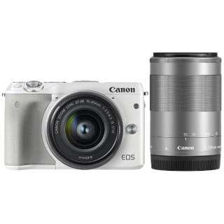EOS M3 ミラーレス一眼カメラ ダブルレンズキット2 ホワイト [ズームレンズ+ズームレンズ]