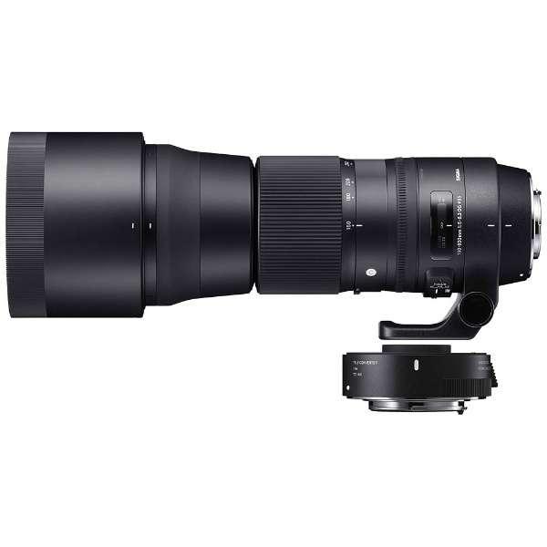 カメラレンズ 150-600mm F5-6.3 DG OS HSM+TELECONVERTER TC-1401キット Contemporary ブラック [キヤノンEF /ズームレンズ]