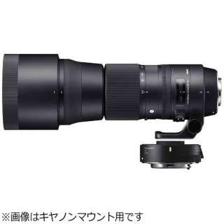 カメラレンズ 150-600mm F5-6.3 DG OS HSM+TELECONVERTER TC-1401キット Contemporary ブラック [ニコンF /ズームレンズ]