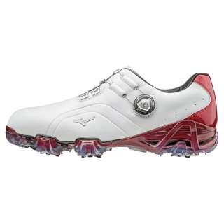 メンズ ゴルフシューズ GENEM 006 Boa(27.0cm/ホワイト×レッド/3E) 51GM160062