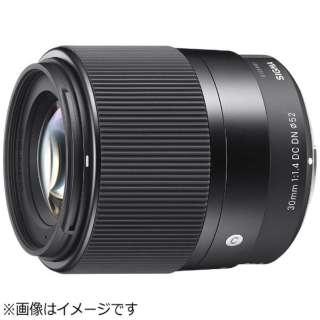 カメラレンズ 30mm F1.4 DC DN Contemporary ブラック [マイクロフォーサーズ /単焦点レンズ]