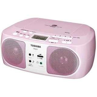 CDラジオ TY-C17 ピンク [ワイドFM対応]