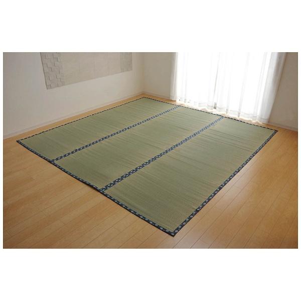 イケヒコ 純国産 い草 上敷き カーペット 双目織 ほほえみ 本間8畳(約382×382cm) 1枚