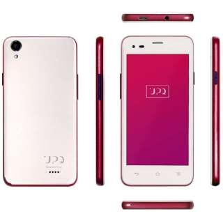 UPQ Phone A01X NR ホワイト 「QASP001NRWx」 4.5型・メモリ/ストレージ:1GB/16GB microSIMx2 ドコモ/ソフトバンクSIM対応 SIMフリースマートフォン