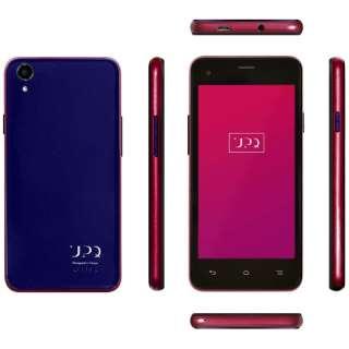 UPQ Phone A01X NR ブラック 「QASP001NRBx」 4.5型・メモリ/ストレージ:1GB/16GB microSIMx2 ドコモ/ソフトバンクSIM対応 SIMフリースマートフォン