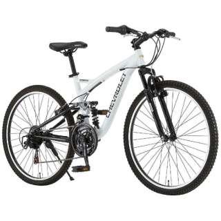 26型 マウンテンバイク CHEVROLET AL-ATB2618EX(ホワイト) 14184-12 【組立商品につき返品不可】