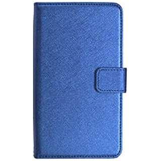 スマートフォン用[5.2インチ] 汎用ケース ブルー BKSCA006