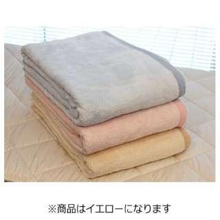 綿毛布 ムジカラー(シングルサイズ/140×210cm/イエロー)