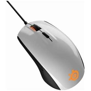 62335 ゲーミングマウス SteelSeries Rival 100 ホワイト [光学式 /6ボタン /USB /有線]