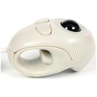 有線光学式トラックボール[USB 1.55m・Win] ハンディー (4ボタン・ホワイト) GM-OPTB02W