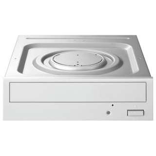 SATA接続 内蔵型DVDドライブ 24倍速書き込み対応(ホワイト) DVR-S24ET3W