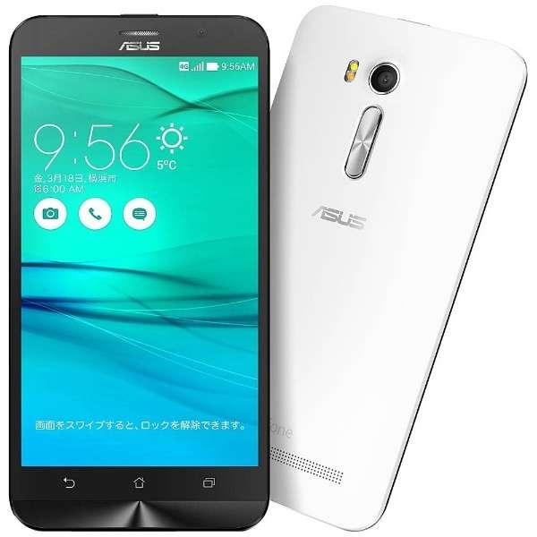 ZenFone GO Seriesホワイト「ZB551KL-WH16」 Snapdragon 400 5.5型・メモリ/ストレージ:2GB/16GB microSIMx2 ドコモ/au/Ymobile SIM対応 SIMフリースマートフォン