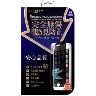 iPhone SE(第1世代)4インチ / 5c / 5s / 5用 完全無傷強化ガラス 覗き見防止 i5SE-GLMB