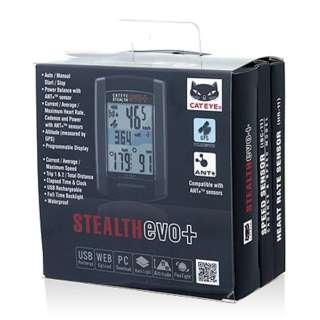 サイクルコンピュータ STEALTH evo+ トリプルキット CC-GL51-SET【スピード・ケイデンスセンサー/心拍センサー付】