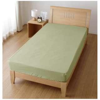 【ボックスシーツ】スキップ シングルサイズ(ポリエステル65%、綿35%/100×200×30cm/グリーン)