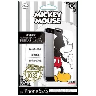 iPhone 5s/5用 Disney背面ガラス ミッキーマウス GLASS5-71457
