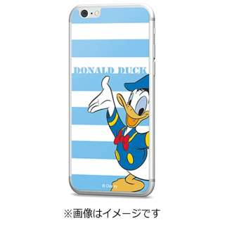iPhone 6s/6用 Disney背面ガラス ドナルドダック ボーダー GLASS6-71449