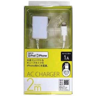 AC充電器 Lightning 2m ホワイト ACL90W