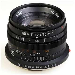 カメラレンズ 35mm/f2.4 IBERIT(イベリット) ブラック [ライカL /単焦点レンズ]