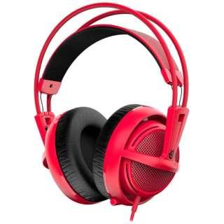 51135 ゲーミングヘッドセット Siberia 200 レッド [φ3.5mmミニプラグ /両耳 /ヘッドバンドタイプ]