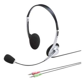 MM-HS515SVN ヘッドセット シルバー [φ3.5mmミニプラグ /両耳 /ヘッドバンドタイプ]