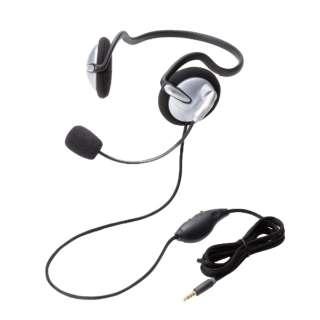 HS-NB05TSV ヘッドセット シルバー [φ3.5mmミニプラグ /両耳 /ネックバンドタイプ]