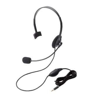 HS-HP21TBK ヘッドセット ブラック [φ3.5mmミニプラグ /片耳 /ヘッドバンドタイプ]
