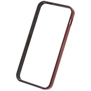 iPhone SE / 5s / 5用 フラットバンパーセット メタリックレッド PSE-44 液晶保護フィルム・背面フィルム付