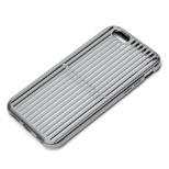 iPhone 6s/6用 アルミニウムケース スリット ブラック PG-I6SAL03BK