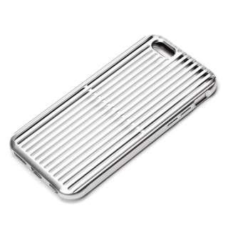 iPhone 6s/6用 アルミニウムケース スリット シルバー PG-I6SAL01SV