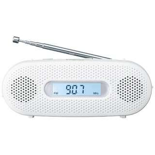 携帯ラジオ ホワイト RF-TJ20 [AM/FM /ワイドFM対応]