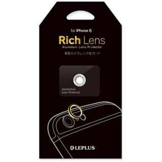 iPhone 6用 カメラレンズプロテクター Rich Lens ゴールド LP-IP64CP01GD