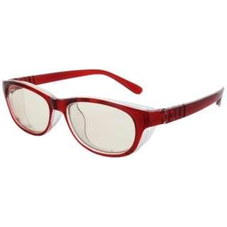 【保護メガネ】メオガードナチュラル Sサイズ(ワイン)8867-03[度付きレンズ対応]